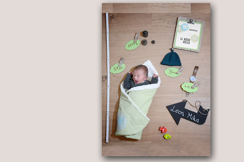 Geburtskarten Fotoshooting